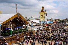 Oktobefest-Monaco di Baviera-vista dall'alto