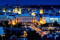 Praga - Vista notturna