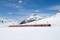 Trenino rosso del Bernina - vista panoramica